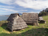 Celtic houses, Havranok Skansen, Slovakia — Stock Photo
