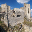 Ruined walls and chapel of Beckov castle — Stock Photo