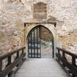 Main gate of the Trencin castle, Slovakia — Stock Photo #45044527