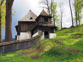 Rare UNESCO church in Lestiny, Orava, Slovakia — Foto de Stock