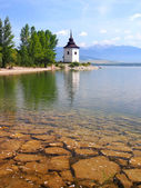 Sunny day at Liptovska Mara lake, Slovakia — Stock Photo