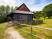 Rare folk house in skansen of Stara Lubovna — Stock Photo