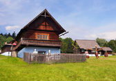 A traditional wooden house in Stara Lubovna — Foto Stock