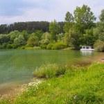 Boat at Liptovska Mara lake, Liptov, Slovakia — Stock Photo #50528935