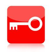 Icono de llave roja — Foto de Stock