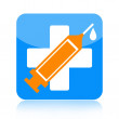 Medical syringe icon — Stock Photo