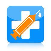 Medical syringe icon — Stock Photo