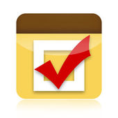 Check box icon — Stock Photo