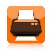 Het printerpictogram — Stockfoto