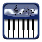 Piano icon — Stock Photo