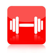 Barbell icon — Stock Photo