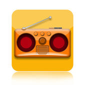 Radio icon — Stock Photo