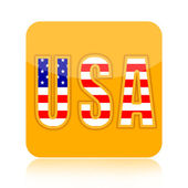 USA icon — Foto de Stock