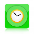 Clock icon — Stockfoto #17417783