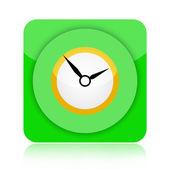 Zegar ikonę — Zdjęcie stockowe