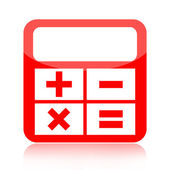 Calculator icon — Stock Photo