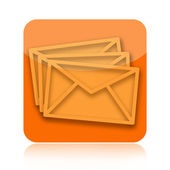 Email messages icon — Stock Photo
