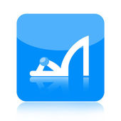 High heel shoe icon — Stock Photo