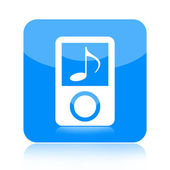 Mp3 music player icon — Stock Photo