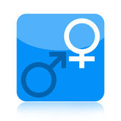 Venus and Mar icon — Stock Photo