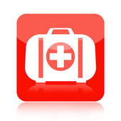 First aid kit medical icon — Stock Photo