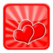 Love hearts icon — Stock Photo