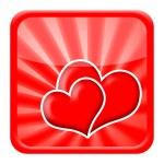 Love hearts icon — Stock Photo