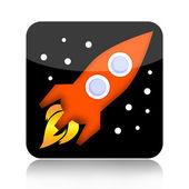 Spacecraft icon isolated on white background — Stock Photo