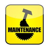 Maintenance sign — Stock Photo