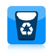 Recycle bin icon — Foto Stock