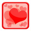Valentines day icon with red hearts — Stock Photo