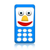 Smiley mobile phone — Stock Photo