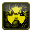 Radioactive button — Stock Photo