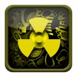 Radioactive button — Stock Photo #18824173