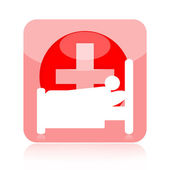 Hospital patient icon — Stock Photo