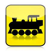 Lokomotiva znamení — Stock fotografie
