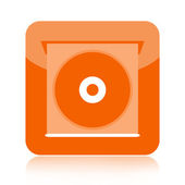 Compact disc player icon — Stock Photo