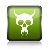 Skull button — Stock Photo