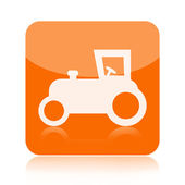 Tractor icon — Stock Photo