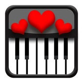 Piano and hearts — Foto de Stock