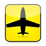 Airplane sign — Stock Photo