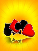 Poker gambling casino banner — Stock Photo