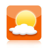 Weather forecast icon — Stockfoto