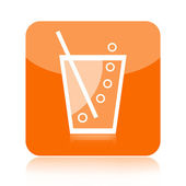 Soda or lemonade icon — Stock Photo