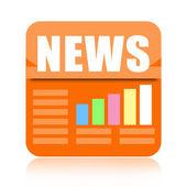 Business news icon — Stock Photo