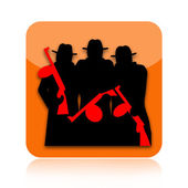Mafia icon — Stock Photo