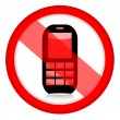 No mobile phone sign — Stock Photo #26050035