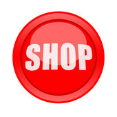 Shop button — Stock Photo
