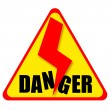 Stock Photo: Danger sign