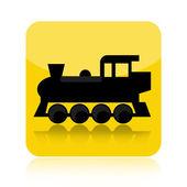 鉄道機関車のアイコン — ストック写真
